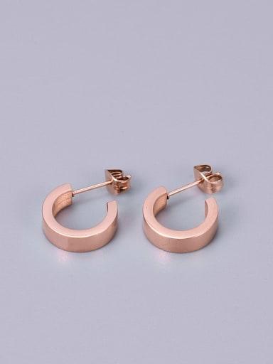 Titanium Round Minimalist Stud Earring