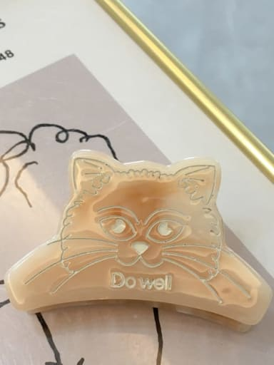 A043 light amber Alloy Cellulose Acetate Acrylic Cat Hair Scratch Hairpin Medium Jaw Hair Claw