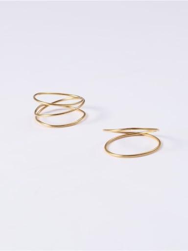 Titanium Round Minimalist Midi Ring