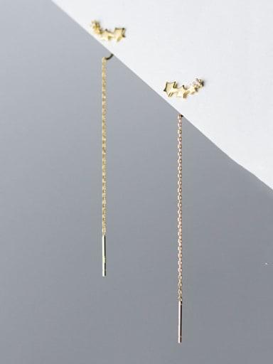 925 Sterling Silver Tassel Trend Threader Earring