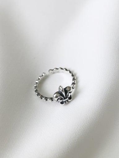 Cross  J101 925 Sterling Silver Cross/flower Vintage Geeky Ring