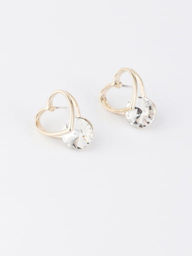 C love money Zinc Alloy Imitation Pearl White Star Minimalist Stud Earring