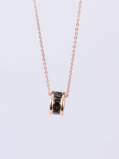 Titanium Cubic Zirconia Multi Color Round Minimalist Choker Necklace