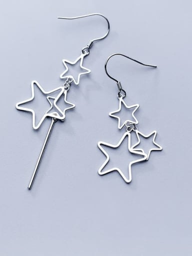 925 Sterling Silver Star Minimalist Hook Earring