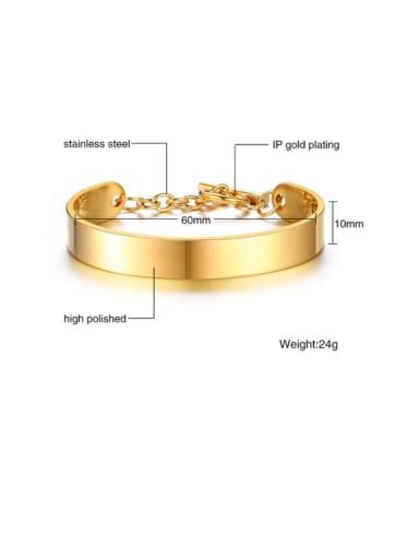 Golden Titanium Irregular Minimalist Smooth Cuff Bangle