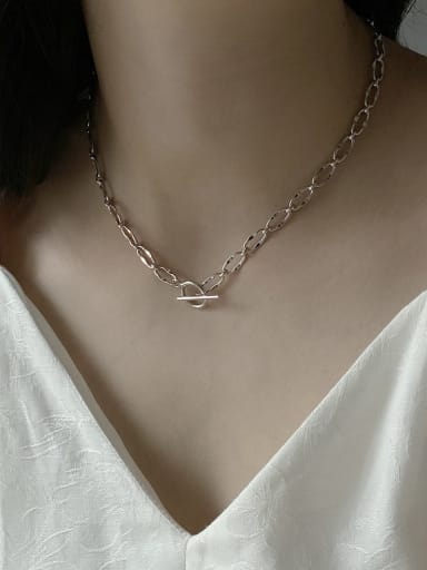 925 Sterling Silver Heavy Industry Handmade Necklace