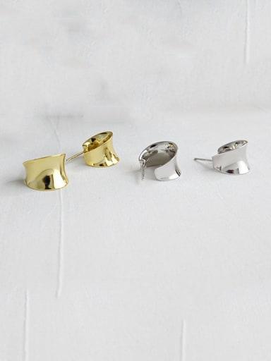 925 Sterling Silver Irregular Minimalist Drop Earring