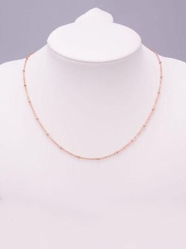 Titanium Bead Round Minimalist Choker Necklace