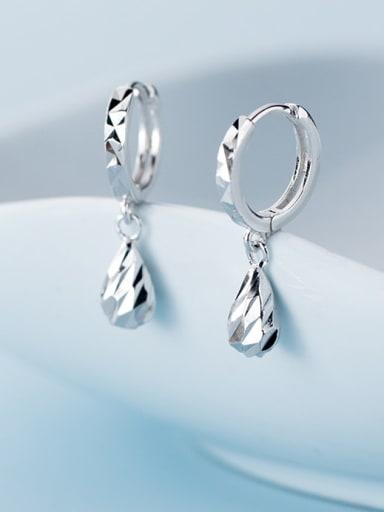 925 Sterling Silver Water Drop Minimalist Huggie Earring