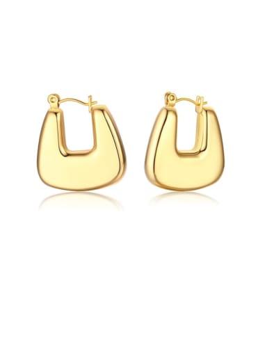 U-shaped eh 287 Stainless steel Geometric Minimalist Drop Earring