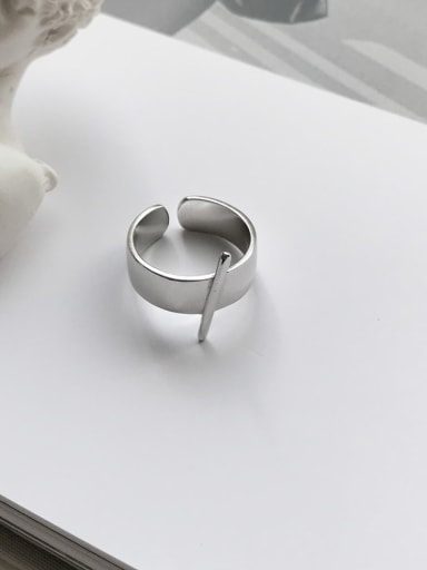 925 Sterling Silver  Smooth Irregular Minimalist Free Size Band Ring
