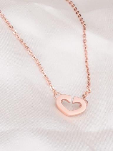 ??? Titanium Smooth Hollow Heart Necklace