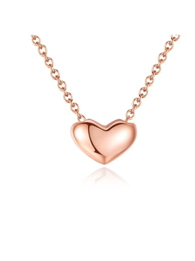 925 Sterling Silver Simple fashion heart pendant Necklace