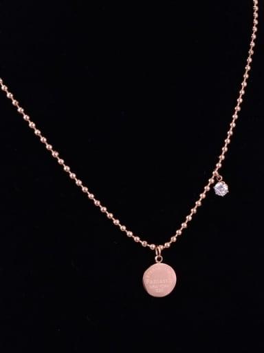 Titanium Rhinestone White Round Minimalist Choker Necklace