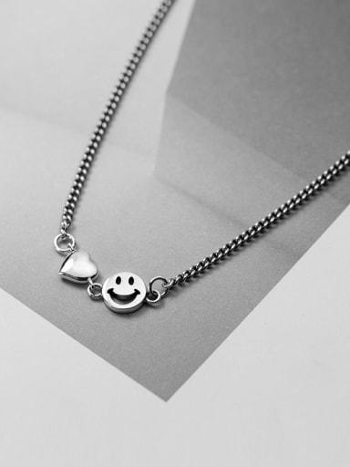 925 Sterling Silver Face Vintage Necklace