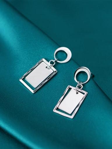 925 Sterling Silver Geometric Minimalist Drop Earring