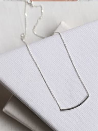925 Sterling Silver minimalist square  geometric simplicity Pendant Necklace