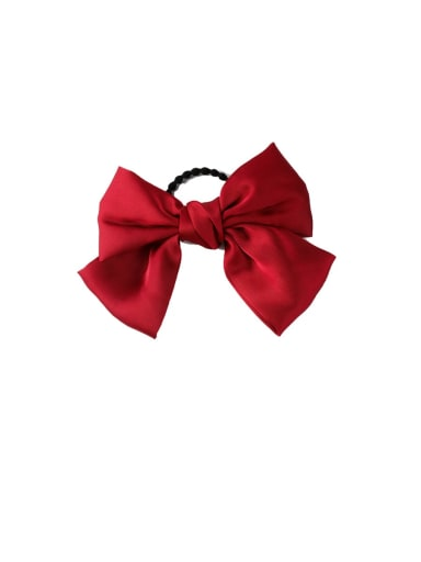 B red (hair rope) Alloy With Gun Plated Fashion Ribbon  Butterfly Hair Ropes