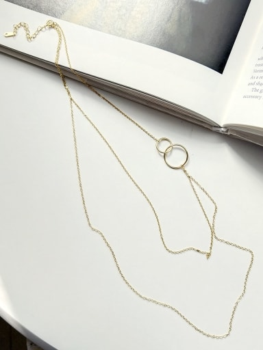 925 Sterling Silver Round Trend Multi Strand Necklace