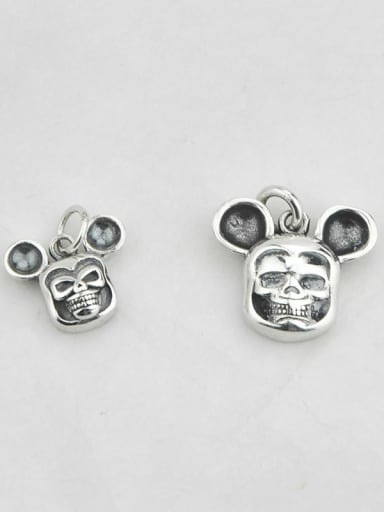 small Vintage Sterling Silver With Vintage Mickey Mouse Pendant Diy Accessories