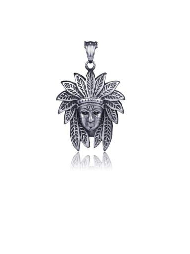 Pendant (without necklace) Titanium Vintage Indian head pendant