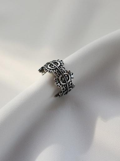 925 Sterling Silver Vintage Geeky Ring