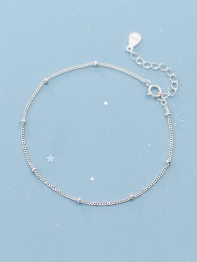 925 Sterling Silver  Minimalist Geometric chain Link Bracelet