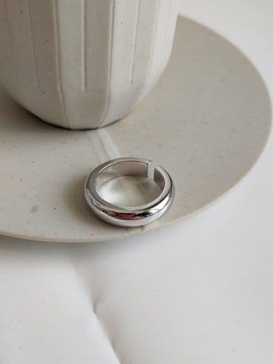 925 Sterling Silver Geometric Classic Band Ring