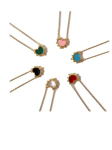 Copper Malchite Multi Color Necklace