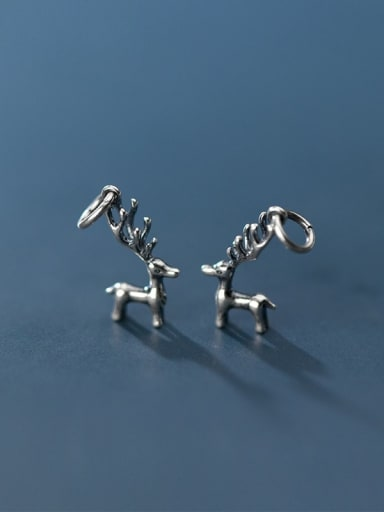 925 Sterling Silver With Sika Deer Pendant  Diy Accessories
