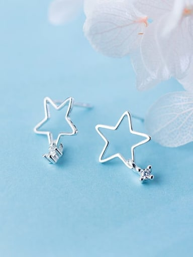925 Sterling Silver Star Minimalist Drop Earring