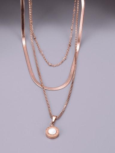 Titanium Round Minimalist Multi Strand Necklace