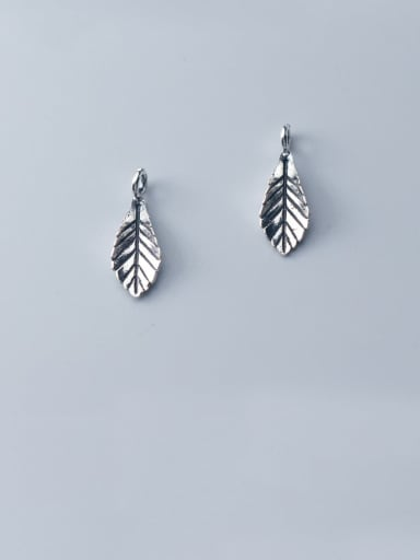 925 Sterling Silver With Vintage Leaf Pendant Diy Accessories