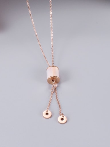 Titanium Tassel Trend Lariat Necklace