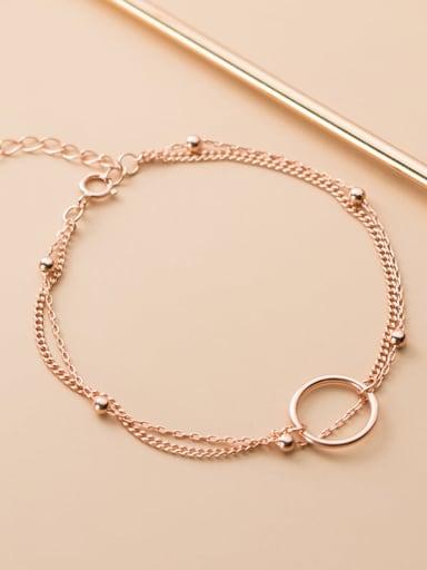 925 Sterling Silver Bead Geometric Minimalist Strand Bracelet