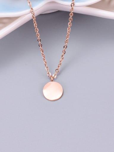 Rose Gold Titanium Smooth Round Necklace