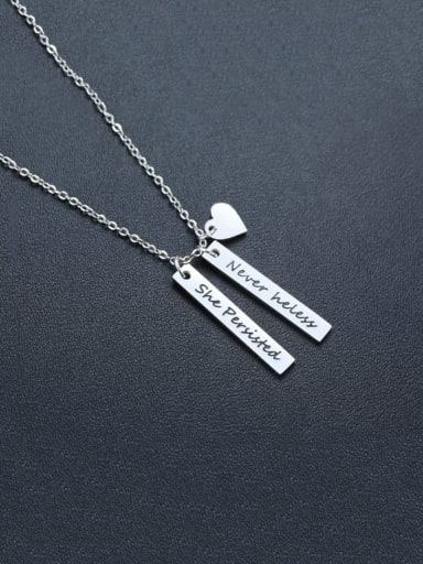 Never theless She Persisted Stainless Steel Bar Necklaces