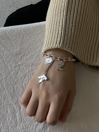 925 Sterling Silver Vintage  Small Dinosaur  Bracelet
