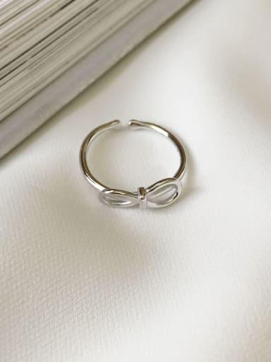 925 Sterling Silver Bowknot Minimalist Midi Ring
