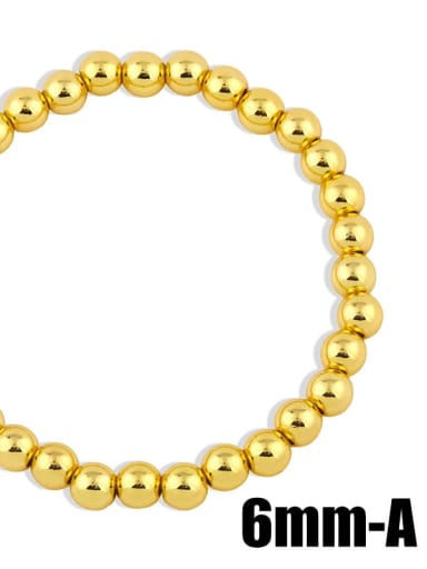 Gold 6mm Brass Ball Minimalist Bead Chain
