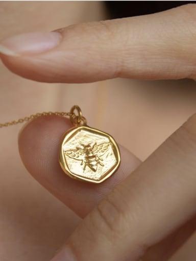Copper  Mini Bee Irregular Pendant Necklace