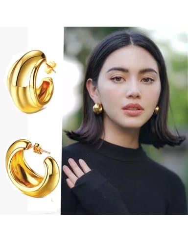 Copper Irregular Minimalist Drop Earring