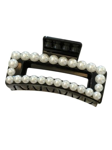 Cellulose Acetate Trend Geometric Imitation Pearl Jaw Hair Claw