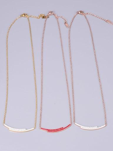 Titanium Rhinestone Multi Color Necklace