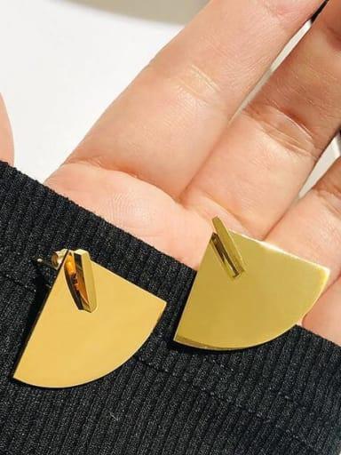 Titanium Irregular Minimalist sector Stud Earring