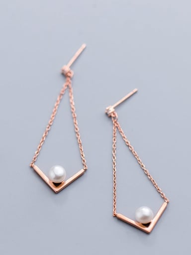 925 Sterling Silver  Hollow Triangle Minimalist Drop Earring