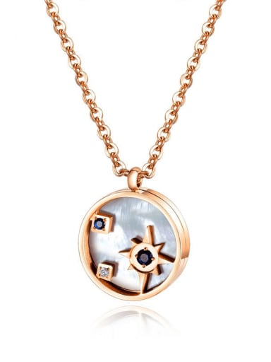 Titanium Shell Locket Minimalist Necklace