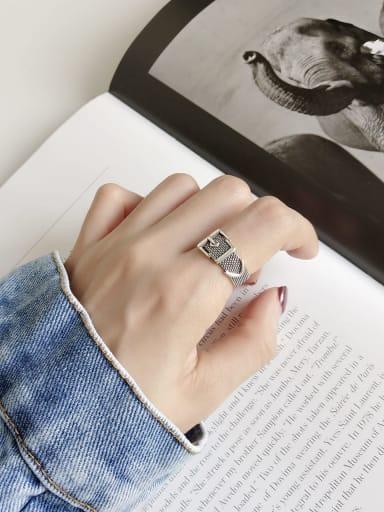 925 Sterling Silver Vintage belt buckle Geeky Ring