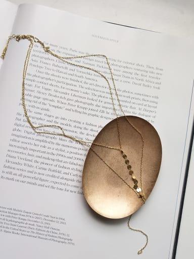925 Sterling Silver Tassel round Trend Multi Strand Necklace