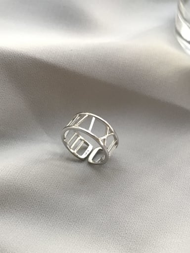 925 Sterling Silver Rome digital free size Ring